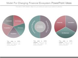 Model For Changing Financial Ecosystem Powerpoint Ideas