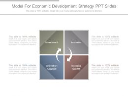 Model For Economic Development Strategy Ppt Slides