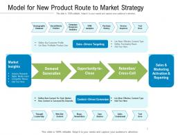 Model For New Product Route To Market Strategy