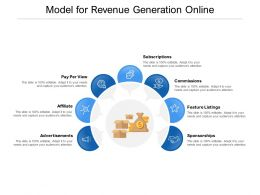 Model For Revenue Generation Online