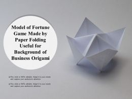 Model Of Fortune Game Made By Paper Folding Useful For Background Of Business Origami