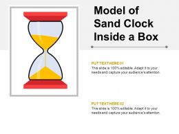 Model Of Sand Clock Inside A Box