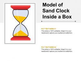 Model Of Sand Clock Inside A Box