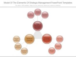 Model Of The Elements Of Strategic Management Powerpoint Templates