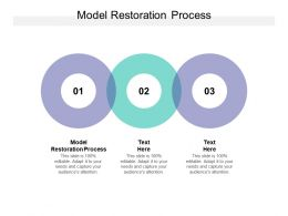 Model Restoration Process Ppt Powerpoint Presentation Layouts Clipart Cpb