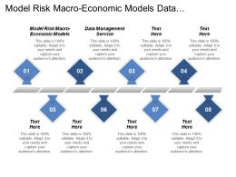 Model Risk Macro Economic Models Data Management Service Cpb