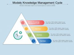 Models Knowledge Management Cycle Ppt Powerpoint Presentation Pictures Gallery Cpb