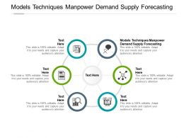 Models Techniques Manpower Demand Supply Forecasting Ppt Template Infographics Cpb