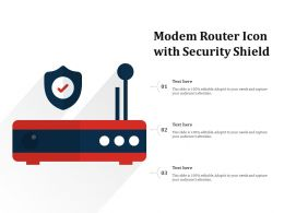 Modem Router Icon With Security Shield