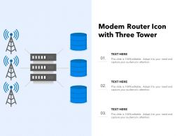 Modem Router Icon With Three Tower
