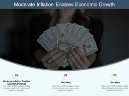 Moderate Inflation Enables Economic Growth Ppt Powerpoint Presentation Show Cpb