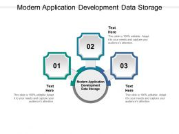 Modern Application Development Data Storage Ppt Powerpoint Presentation Portfolio Cpb