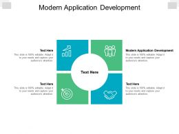 Modern Application Development Ppt Powerpoint Presentation Portfolio Designs Download Cpb