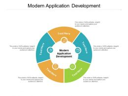 Modern Application Development Ppt Powerpoint Presentation Slides Professional Cpb