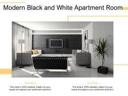 Modern Black And White Apartment Room