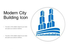 Modern City Building Icon