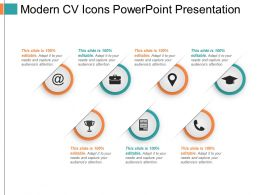 Modern Cv Icons Powerpoint Presentation