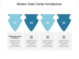 Modern Data Center Architecture Ppt Powerpoint Presentation Professional Model Cpb
