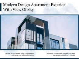 Modern Design Apartment Exterior With View Of Sky