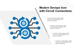 Modern Devops Icon With Circuit Connections
