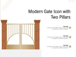 Modern Gate Icon With Two Pillars