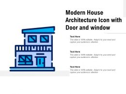 Modern House Architecture Icon With Door And Window