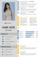 Modern Infographic Resume CV Design Template