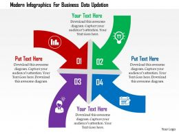 Modern Infographics For Business Data Updation Flat Powerpoint Design