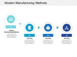 Modern Manufacturing Methods Ppt Powerpoint Presentation Layouts Graphics Cpb