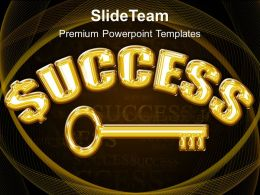 Modern Marketing Concepts Powerpoint Templates Success Key Business Image Ppt Slide