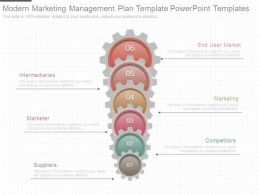 Modern Marketing Management Plan Template Powerpoint Templates