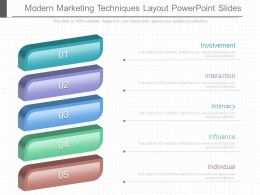 Modern Marketing Techniques Layout Powerpoint Slides