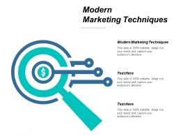 Modern Marketing Techniques Ppt Powerpoint Presentation Professional Graphics Tutorials Cpb