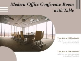 Modern Office Conference Room With Table