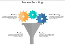 Modern Recruiting Ppt Powerpoint Presentation Inspiration Model Cpb