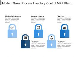 Modern Sales Process Inventory Control Mrp Plan It Strategy Cpb