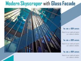 Modern Skyscraper With Glass Facade