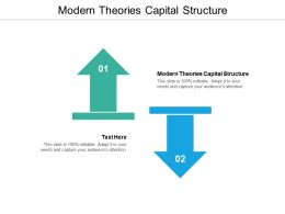 Modern Theories Capital Structure Ppt Powerpoint Presentation Infographic Template Slide Cpb