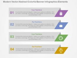 Modern Vector Abstract Colorful Banner Infographics Elements Flat Powerpoint Design