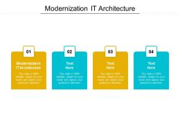 Modernization IT Architecture Ppt Powerpoint Presentation File Graphics Example Cpb
