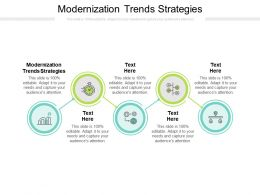 Modernization Trends Strategies Ppt Powerpoint Presentation Outline Example Cpb