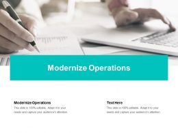 Modernize Operations Ppt Powerpoint Presentation Samples Cpb