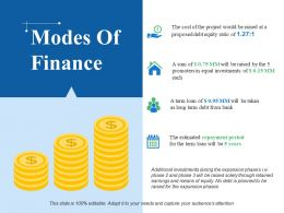 Modes Of Finance Ppt Slide Show