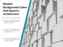 Module Background Cubes And Squares Architecture