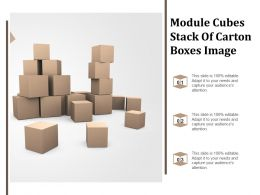 Module Cubes Stack Of Carton Boxes Image
