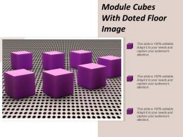 Module Cubes With Doted Floor Image