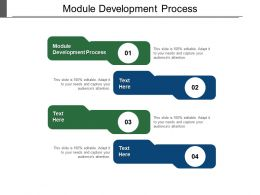 Module Development Process Ppt Powerpoint Presentation Ideas Grid Cpb