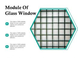 Module Of Glass Window