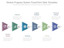 Module Progress System Powerpoint Slide Templates
