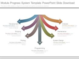 Module Progress System Template Powerpoint Slide Download